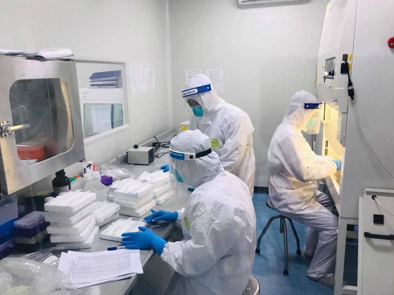 Xét nghiệm Covid-19 tại Bắc Ninh. Ảnh - Bộ Y tế.