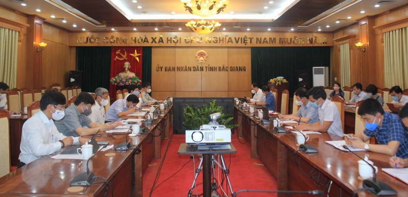 Đoàn công tác của Bộ Y tế làm việc với Ủy ban nhân dân tỉnh Bắc Giang ngày 17/5.