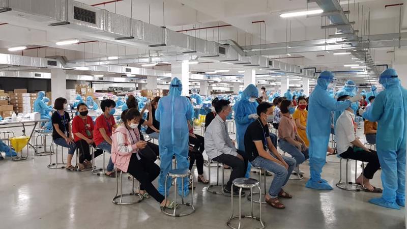 Bắc Giang là một trong những tỉnh có số ca nhiễm là công nhân trong khu công nghiệp lớn nhất. Ảnh - Đình Anh.