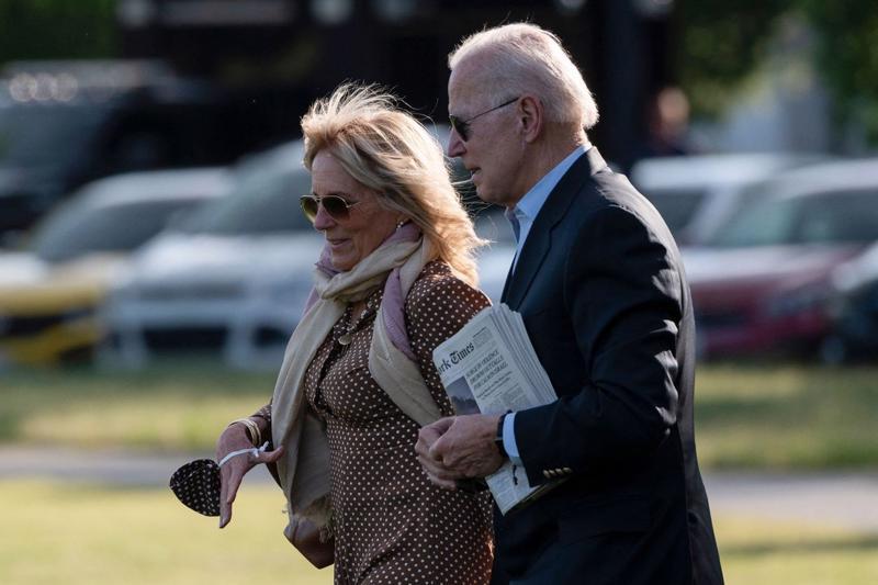 Vợ chồng Tổng thống Mỹ Joe Biden - Ảnh: Getty/WSJ.