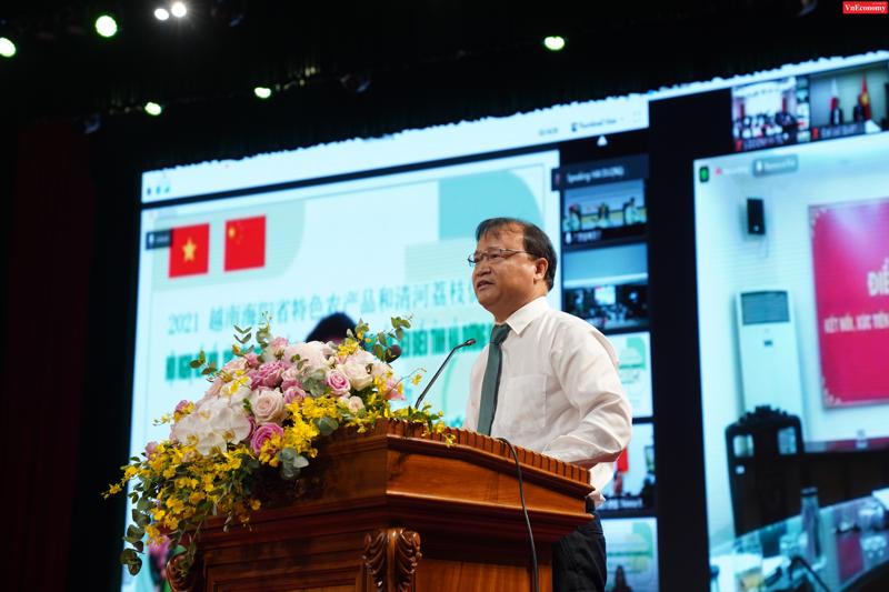 Thứ trưởng Bộ Công thương Đỗ Thắng Hải phát biểu tại hội nghị sáng ngày 18/5.
