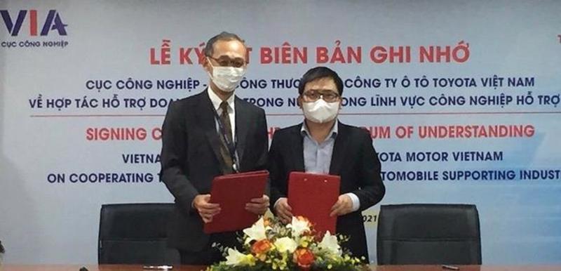 Lễ Ký kết biên bản ghi nhớ về hợp tác giữa Cục Công nghiệp và Toyota Việt Nam.