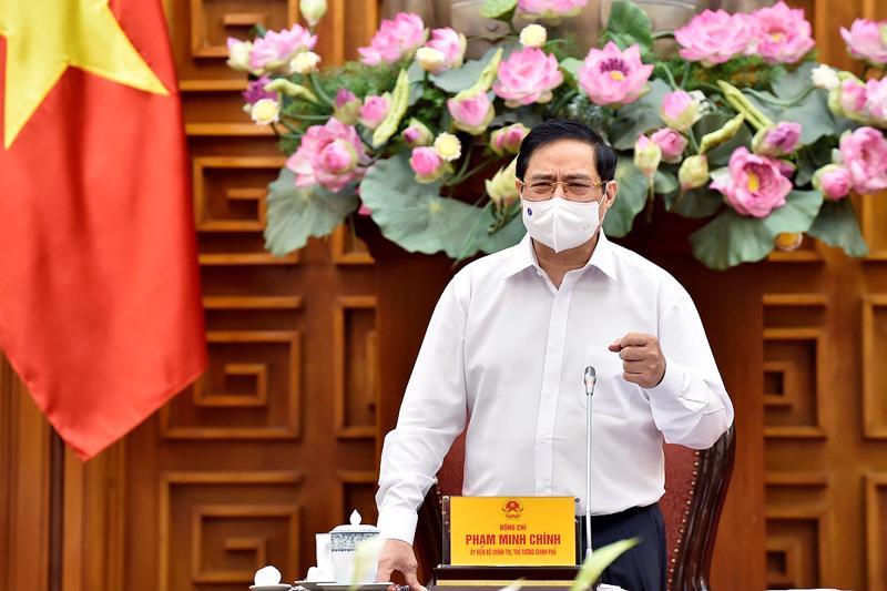 Thủ tướng Phạm Minh Chính tại buổi làm việc với Bộ Xây dựng - Ảnh: VGP.