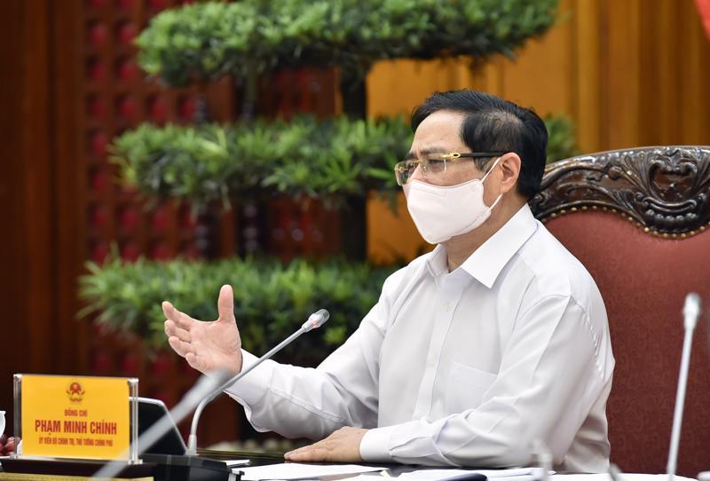 Thủ tướng Phạm Minh Chính tại buổi làm việc với Bộ Nông nghiệp và Phát triển nông thôn - Ảnh: VGP.