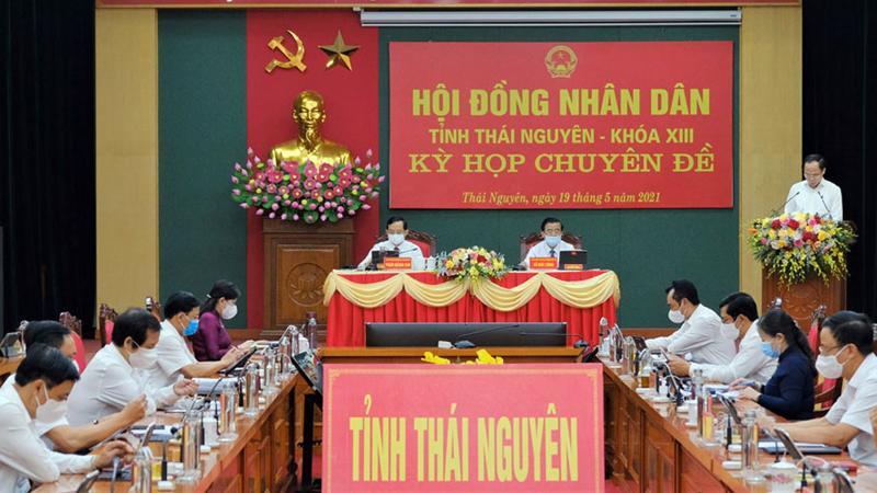 Kỳ họp chuyên đề Hội đồng Nhân dân tỉnh Thái Nguyên khóa 13, nhiệm kỳ 2016-2021.