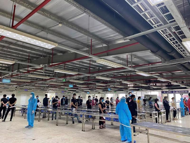 Bắc Giang một trong những địa phương có số công nhân dương tính Covid-19 nhiều nhất trong đợt dịch thứ 4. Ảnh - Đình Anh.