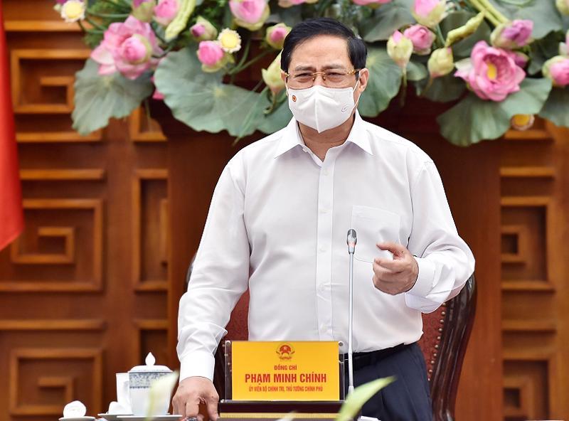 Thủ tướng Phạm Minh Chính phát biểu tại buổi làm việc với Bộ Lao động - Thương binh và Xã hội - Ảnh: VGP.