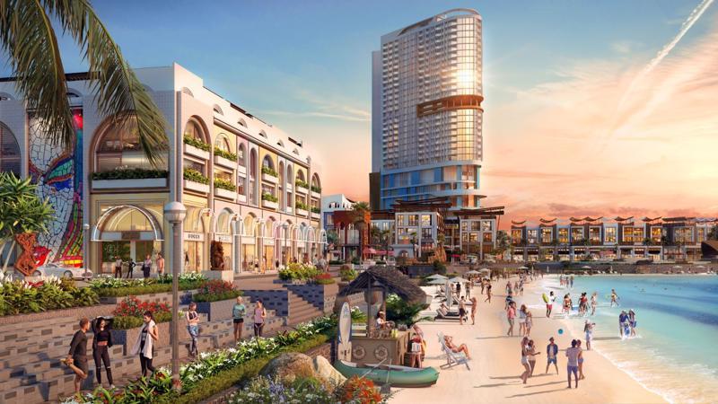 Dự án Vega City Nha Trang, một trong những quần thế nghỉ dưỡng cao cấp với vị trí sát biển nổi bật.