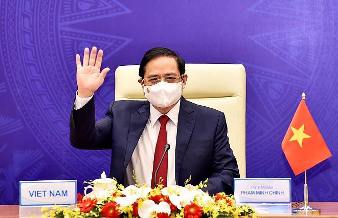 Thủ tướng Chính phủ Phạm Minh Chính phát biểu tại Hội nghị Tương lai châu Á lần thứ 26 - Ảnh: VGP.