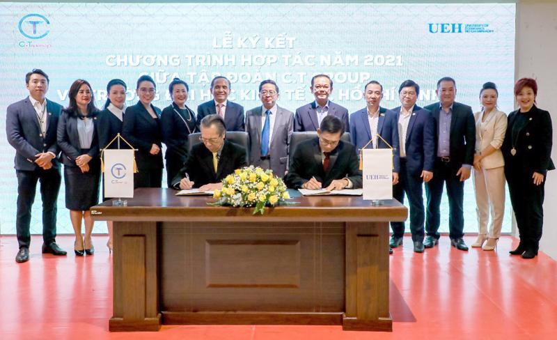 Lễ hợp tác chiến lược giữa Tập đoàn C.T Group và Trường Đại học Kinh tế Tp.HCM.