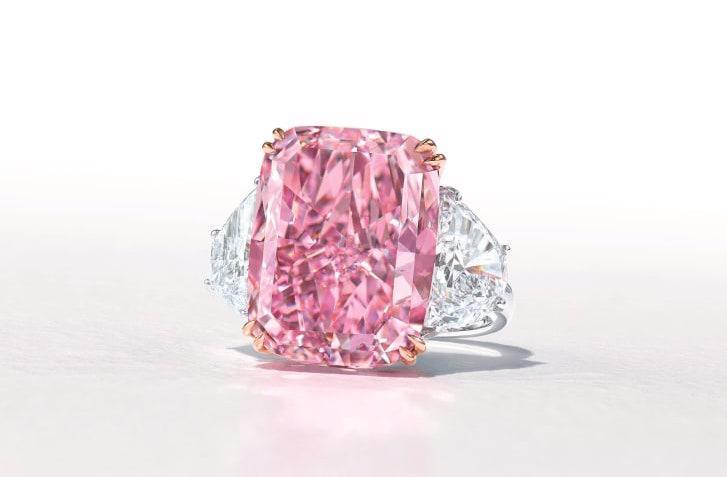 "Viên kim cương hồng ""The Sakura"" - Ảnh: Christie's."