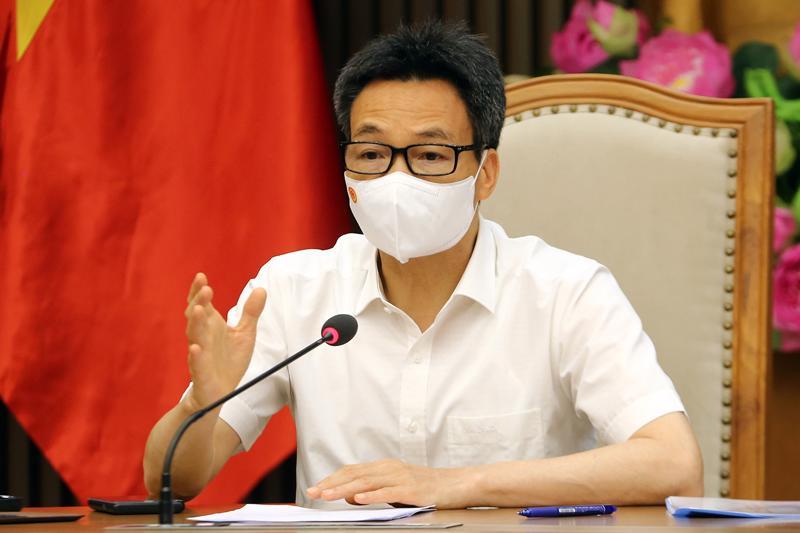 Phó Thủ tướng Vũ Đức Đam họp trực tuyến với tỉnh Bắc Ninh và Bắc Giang về phòng chống dịch Covid-19. Ảnh - VGP/Đình Nam.