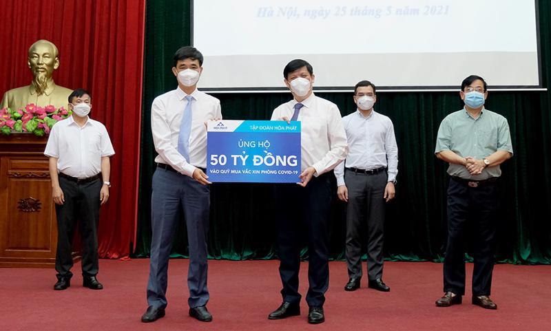 Bộ Y tế tiếp nhận hỗ trợ từ các tập đoàn, doanh nghiệp.