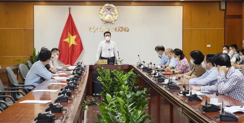 Hội nghị trực tuyến giữa Bộ Công Thương và Lãnh đạo tỉnh Bắc Giang ngày 25/5.