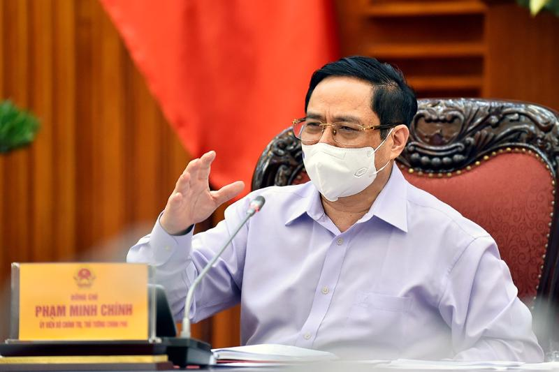 Thủ tướng Chính phủ Phạm Minh Chính tại buổi làm việc với Bộ Tư pháp ngày 25/5 - Ảnh: VGP