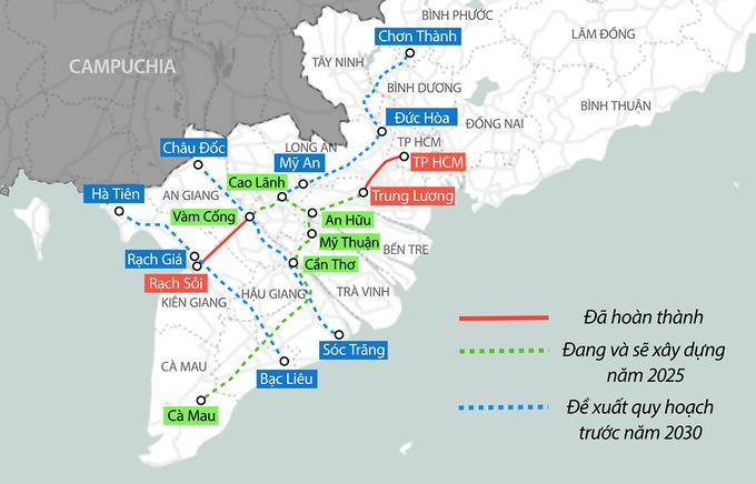Dự án đường cao cấp An Hữu - Cao Lãnh dài 32km dự kiến được đầu tư hơn 6.000 tỷ đồng