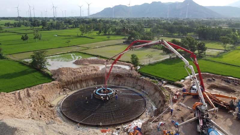 Dự án Phong điện Lợi Hải 2 tại tỉnh Ninh Thuận.