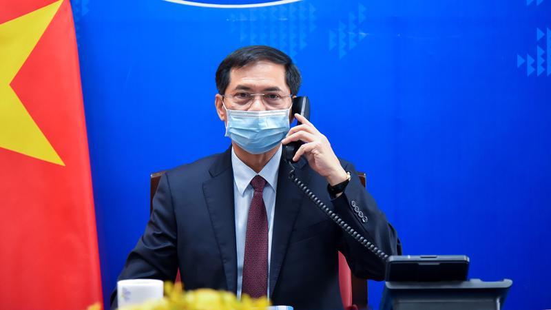 Bộ trưởng Ngoại giao Bùi Thanh Sơn điện đàm với Bộ trưởng Ngoại giao Đức Heiko Maas - Ảnh: Bộ Ngoại giao