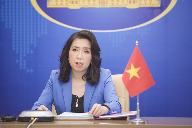 Người phát ngôn Bộ Ngoại giao Lê Thị Thu Hằng - Ảnh: Bộ Ngoại giao.