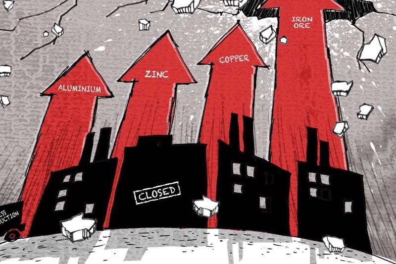 """Giá nguyên liệu thô leo thang đang đe dọa các nhà máy của Trung Quốc - """"công xưởng của thế giới""""."""