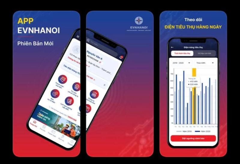 App này dành cho khách hàng ở Hà Nội và có sử dụng công tơ điện tử trực tiếp gửi dữ liệu real-time.