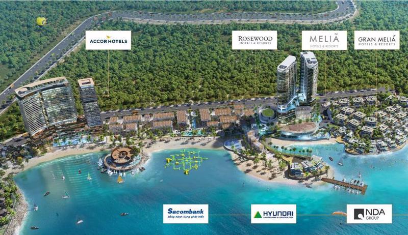 4 toà khách sạn sát biển đều được quản lý và vận hành bởi những thương hiệu khách sạn danh tiếng thế giới.