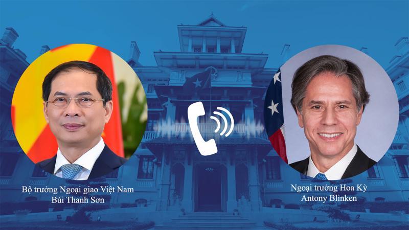 Bộ trưởng Bộ Ngoại giao Việt Nam Bùi Thanh Sơn điện đàm với Ngoại trưởng Mỹ Antony Blinken ngày 28/5