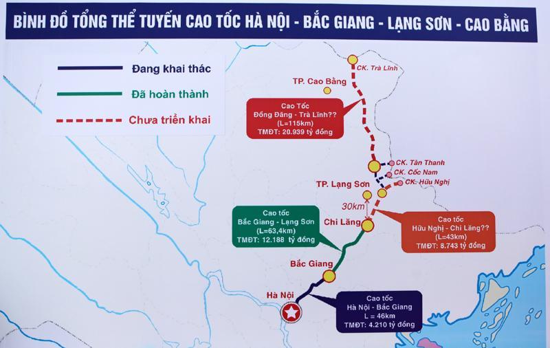 Đường cao tốc Bắc Giang - Lạng Sơn trong mối liên kết với các đường cao tốc Đồng Đăng (Lạng Sơn) - Trà Lĩnh (Cao Bằng)