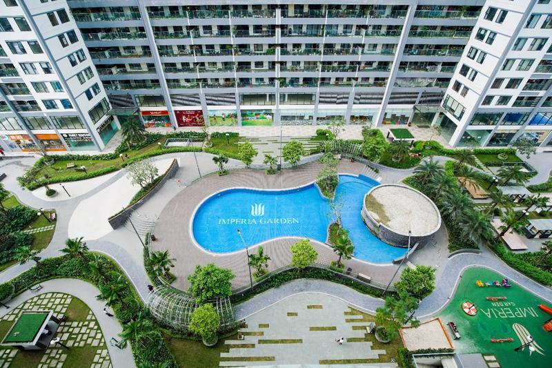 Imperia Sky Garden vẫn là dự án bất động sản duy nhất phía Nam thủ đô dành trên 60% trong hơn 50.000 m2 diện tích cho không gian xanh..