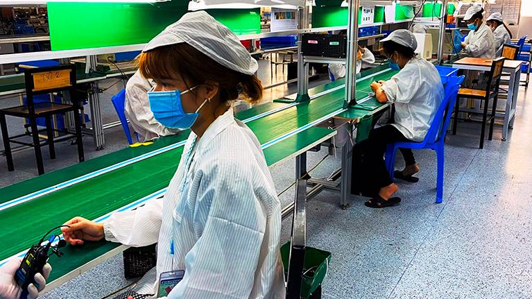 Một doanh nghiệp tại Bắc Giang hoạt động trở lại.