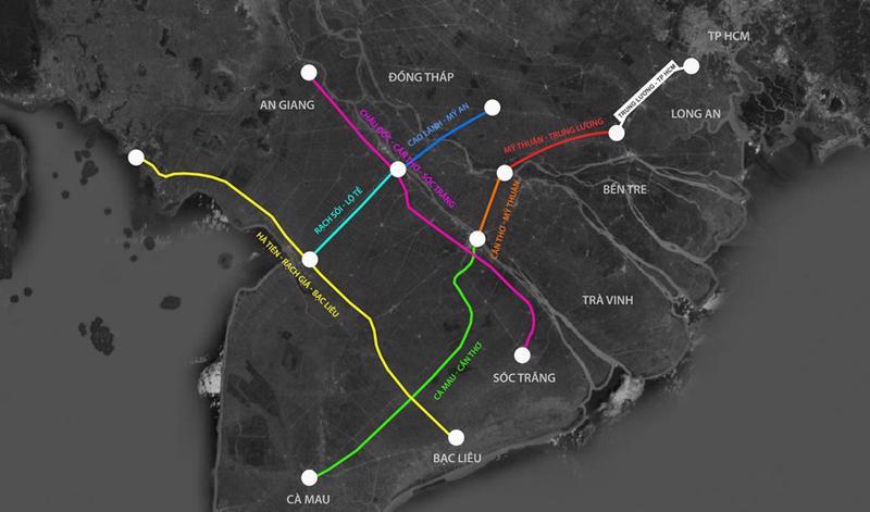 7 dự án cao tốc trọng điểm ở đồng bằng sông Cửu Long.