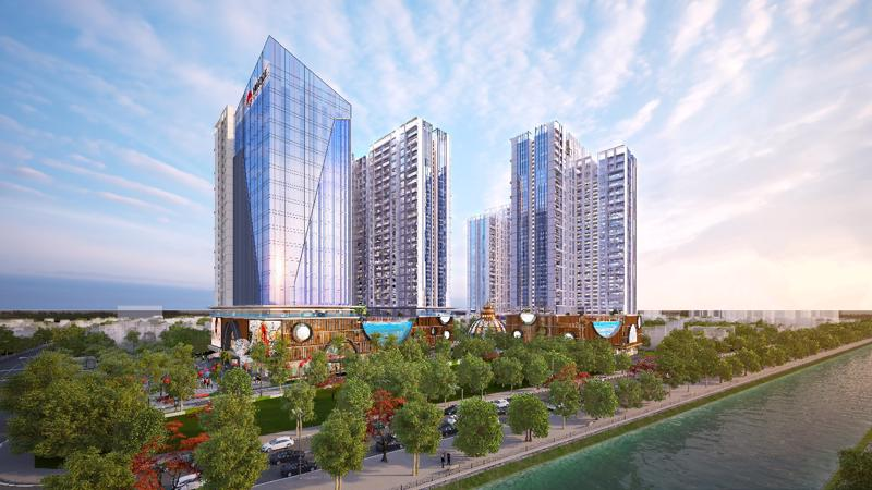 Sachi Prime thuộc tòa Sachi của dự án Hindone City sở hữu không gian sống xanh và nghỉ dưỡng tại gia ngay trung tâm Thủ đô.