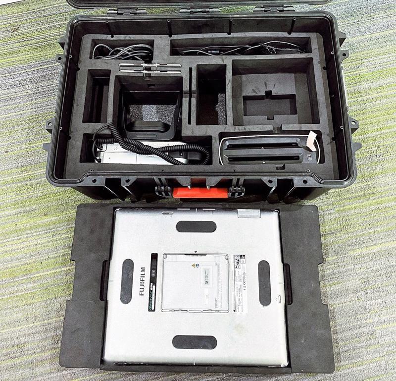 Máy X-Quang cầm tay lưu động thế hệ mới nhất của hãng Fujifilm Nhật Bản.