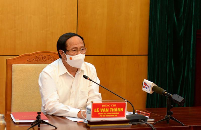 Phó Thủ tướng Lê Văn Thành tại buổi làm việc - Ảnh: VGP