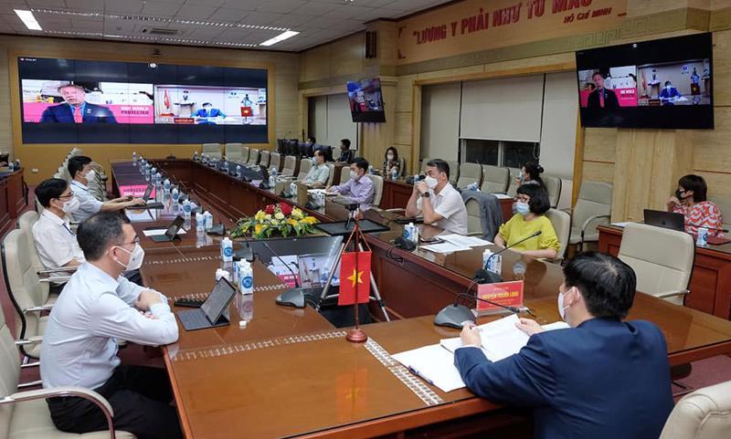 Bộ trưởng Nguyễn Thanh Long họp trực tuyến với đại diện của COVAX Facility.