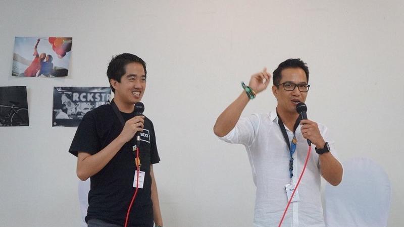 Eddie Thai (trái) và Bình Trần - Ảnh: 500 Startups