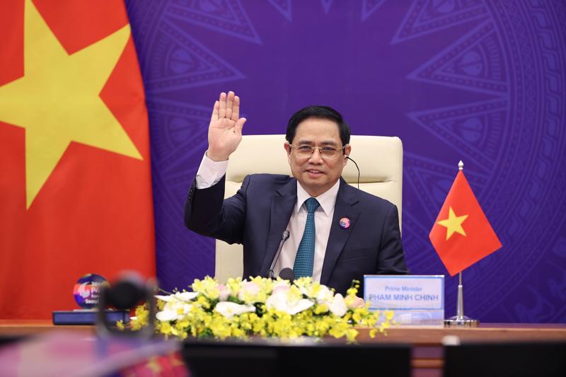 Thủ tướng Phạm Minh Chính tại hội nghị - Ảnh: Bộ Ngoại giao