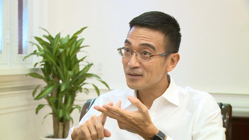 Tổng Giám đốc Sở Giao dịch Chứng khoán Tp.HCM Lê Hải Trà - Ảnh; VTV.