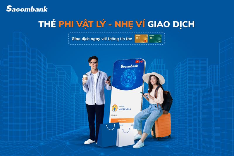 Khi mở mới thẻ thanh toán quốc tế Sacombank Visa và Sacombank Mastercard, khách hàng sẽ được miễn phí thường niên năm đầu tiên, miễn phí rút tiền mặt tại ATM Sacombank.
