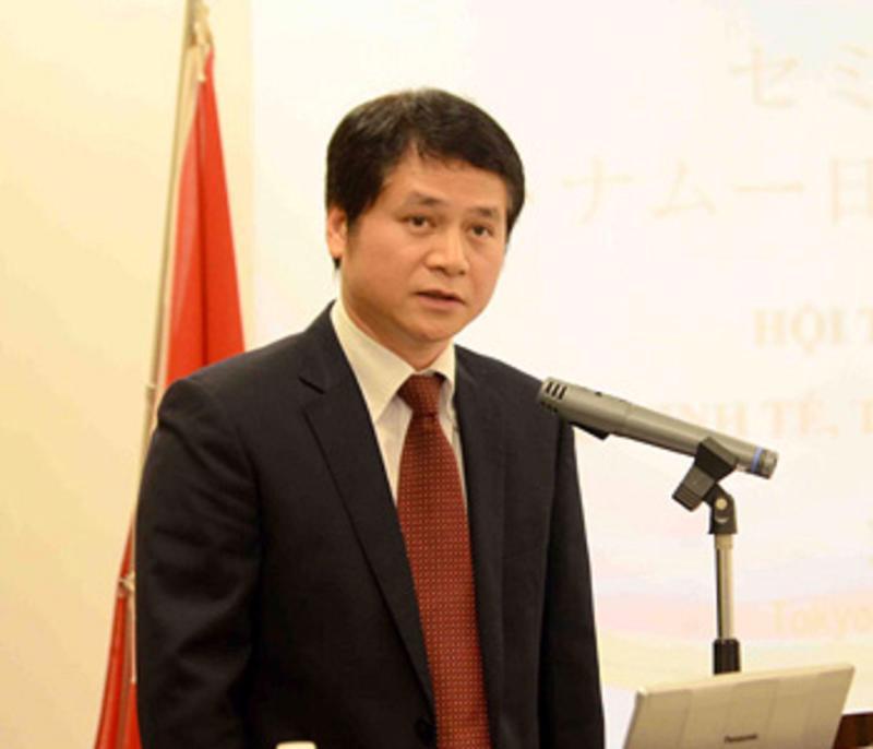 Ông Tạ Đức Minh, Tham tán thương mại Việt Nam tại Nhật Bản.