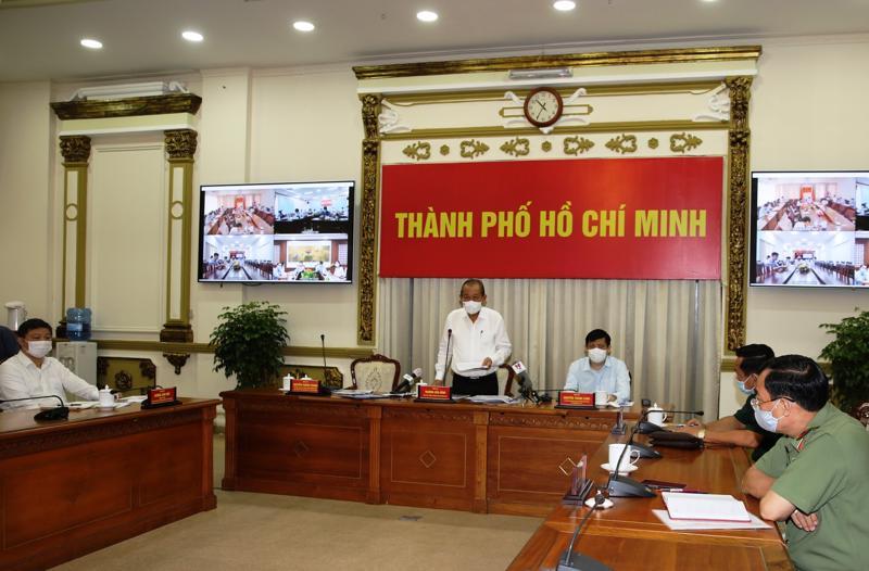 Phó Thủ tướng Thường trực Chính phủ Trương Hòa Bình tại buổi làm việc với UBND Tp.HCM - Ảnh: VGP.