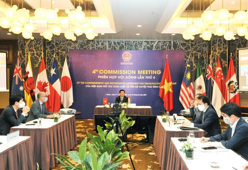 Phiên họp Hội đồng Hiệp định Đối tác Toàn diện và Tiến bộ xuyên Thái Bình Dương lần thứ 4.