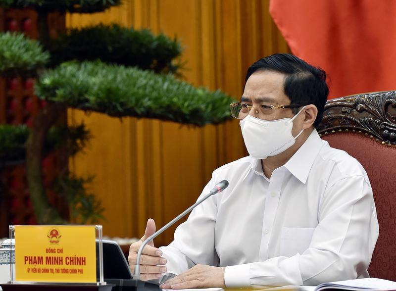 Thủ tướng Phạm Minh Chính tại buổi làm việc - Ảnh: VGP
