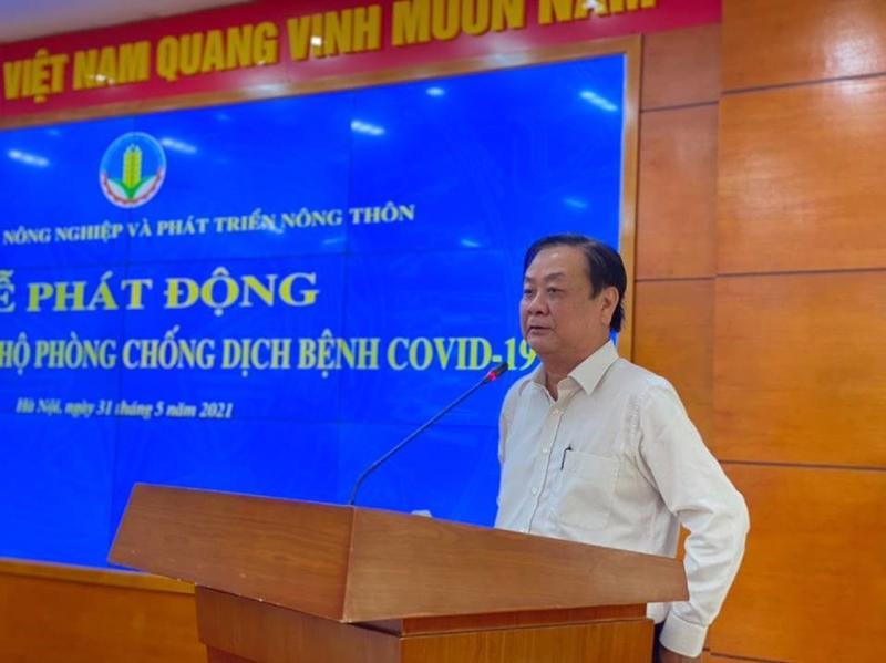 Bộ trưởng Bộ Nông nghiệp Phát triển nông thôn phát động ủng hộ phòng chống dịch Covid-19.