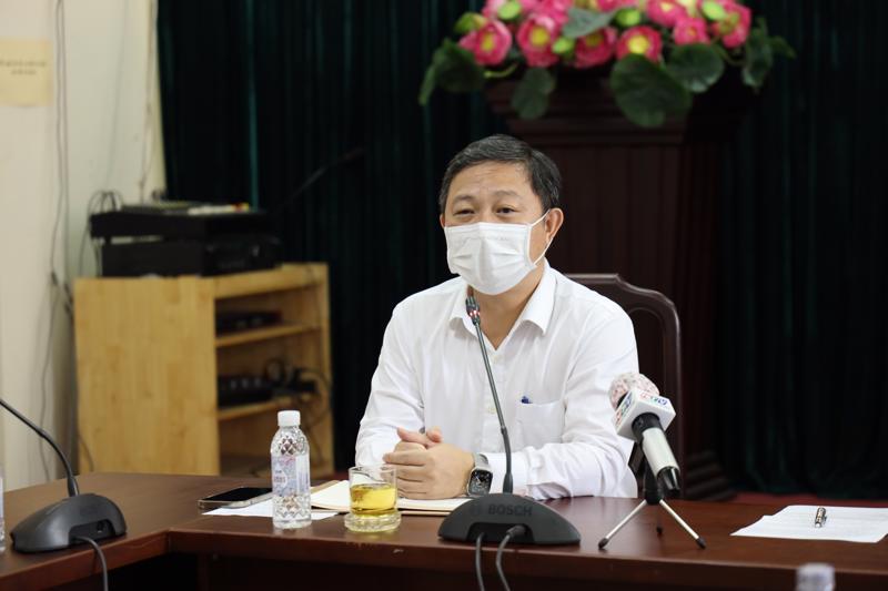 Phó Chủ tịch Ủy ban nhân dân TP.HCM Dương Anh Đức tại buổi làm việc với quận Gò Vấp.