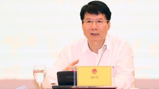 Thứ trưởng Bộ Y tê Trương Quốc Cường tại họp báo - Ảnh: VTC