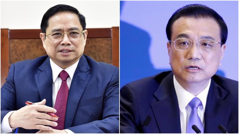 Thủ tướng Chính Phủ Phạm Minh Chính (ảnh trái) và Thủ tướng Trung Quốc Lý Khắc Cường - Ảnh: VGP/Reuters.