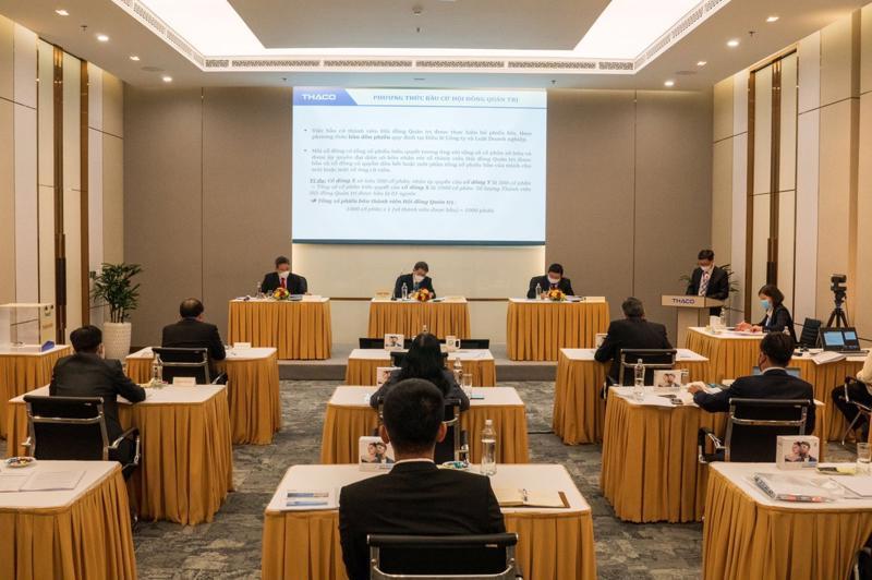 Đại hội đồng cổ đông thường niên 2021 của HAGL Agrico được tổ chức trực tuyến dưới sự điều hành của Thaco.