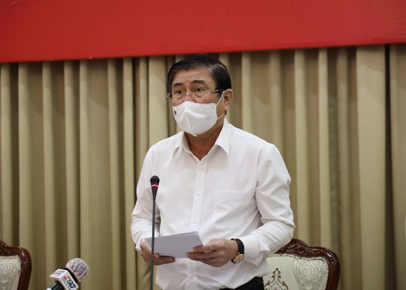 Chủ tịch Ủy ban nhân dân TP.HCM đánh giá các chuỗi lây nhiễm tại thành phố đã từng bước được khống chế.