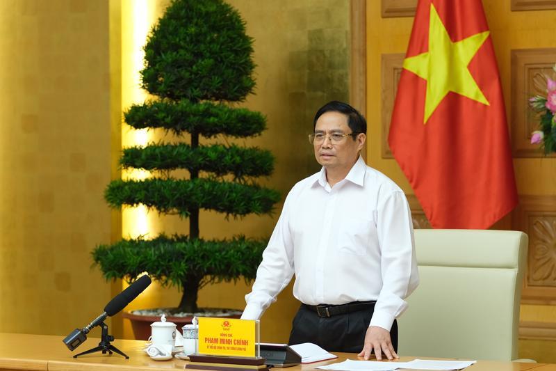 Thủ tướng Chính phủ Phạm Minh Chính tại buổi làm việc - Ảnh: VGP